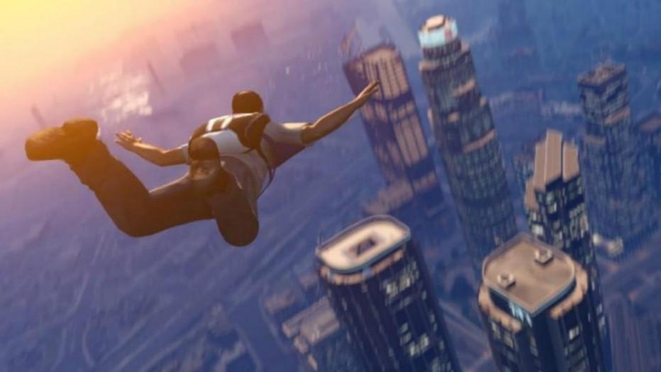 Sobrevolando el mapeado de GTA V