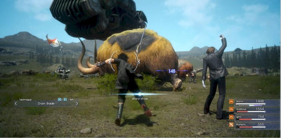 La tecnología de Final Fantasy XV