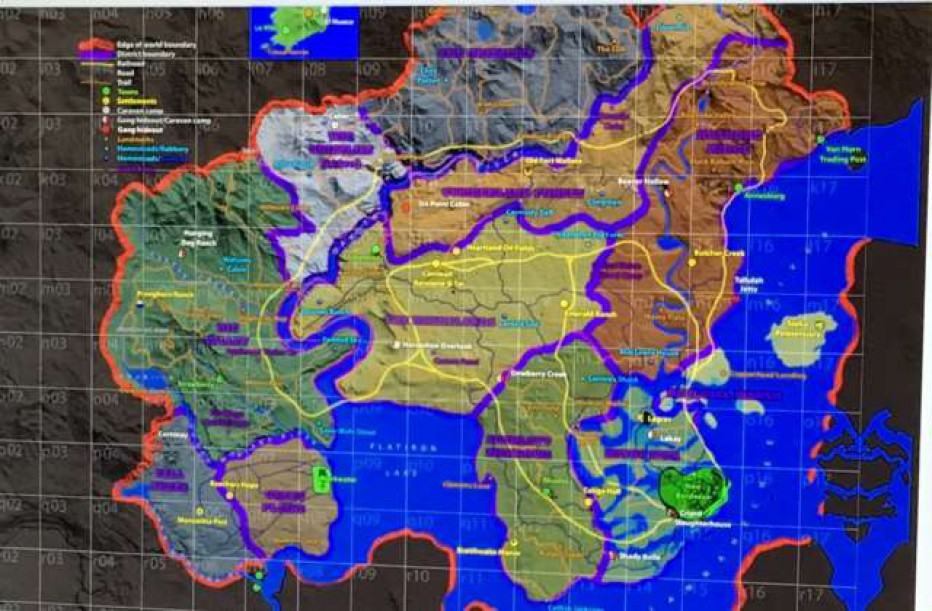¿El mapa de RED DEAD REDEMPTION 2?