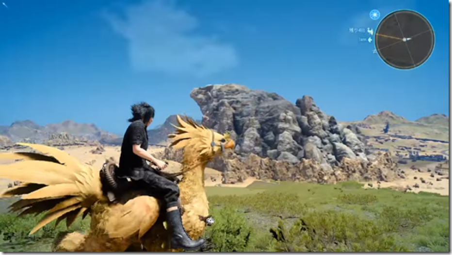 Viajando en Chocobo en FINAL FANTASY XV
