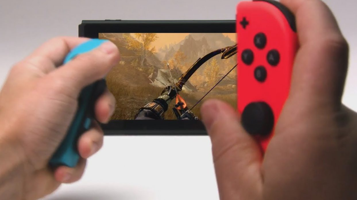 ¿Jugarías así con tu Nintendo Switch?